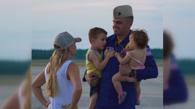 Wife of fallen Blue Angels pilot speaks for first time since his death
