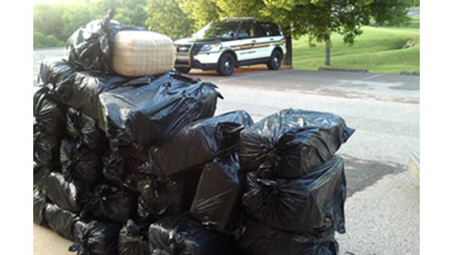 Nearly 700 pounds of marijuana found during I-40 traffic stop