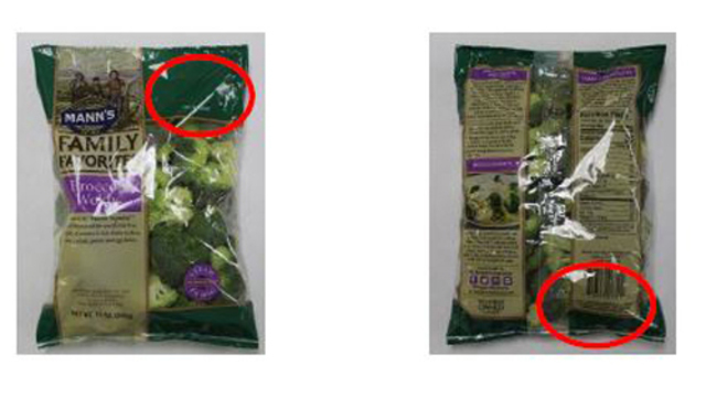 Vegetable products recalled due to listeria