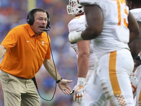 Butch Jones image finally removed from Neyland Stadium