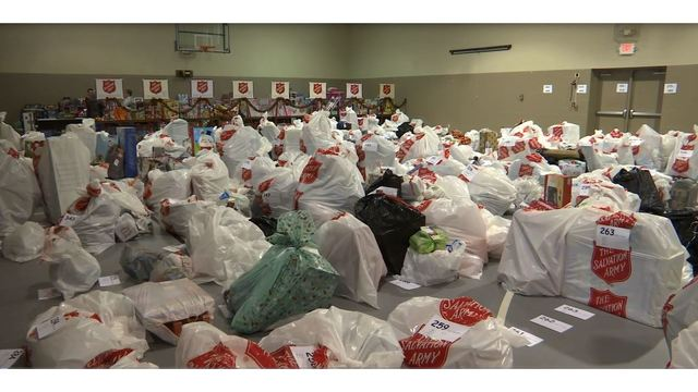 Salvation Army packs over 500 Christmas boxes for those in need