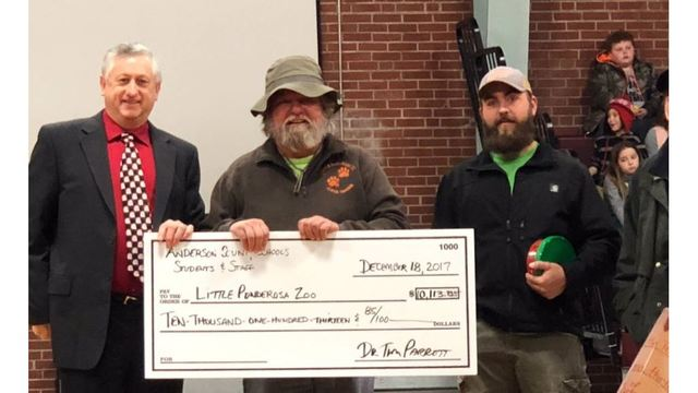 Anderson County Schools raise more than $10K for Little Ponderosa Zoo