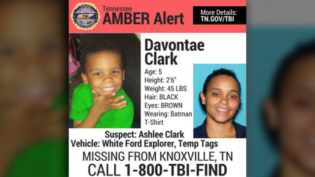 Statewide Amber Alert issued for 5-year-old Knoxville boy