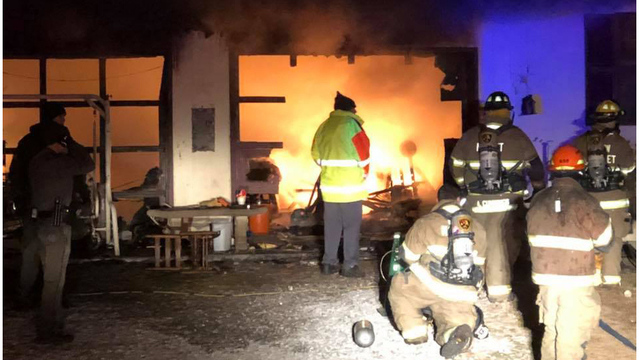 Crews battle overnight house fire in Strawberry Plains
