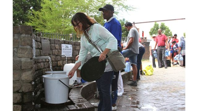 Cape City to expire of water inside weeks