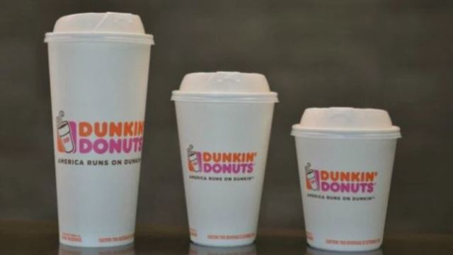 Dunkin' Donuts to discontinue using foam cups