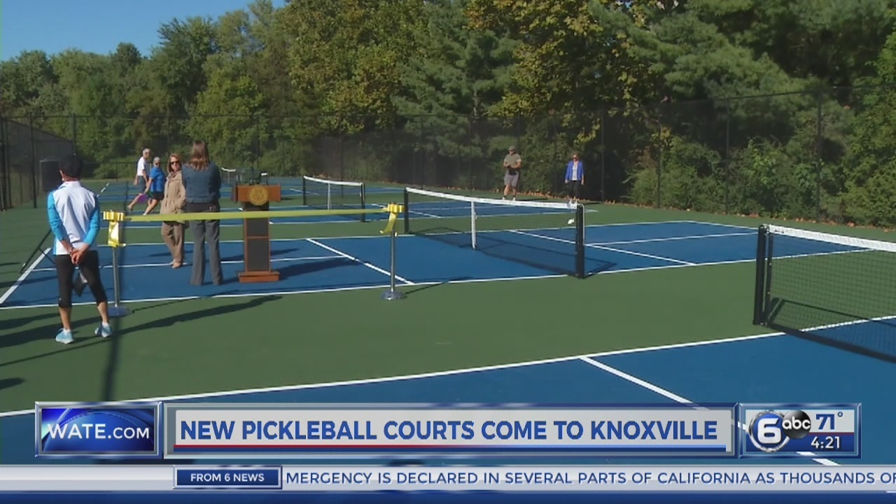 6 New Outdoor Pickleball Courts Open In Knoxville