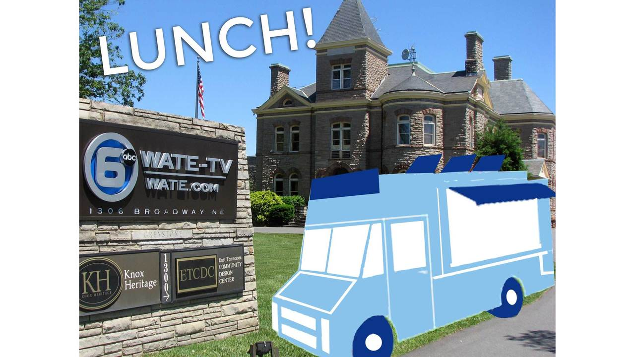 Knoxville food trucks park at WATE 6 On Your Side for lunch