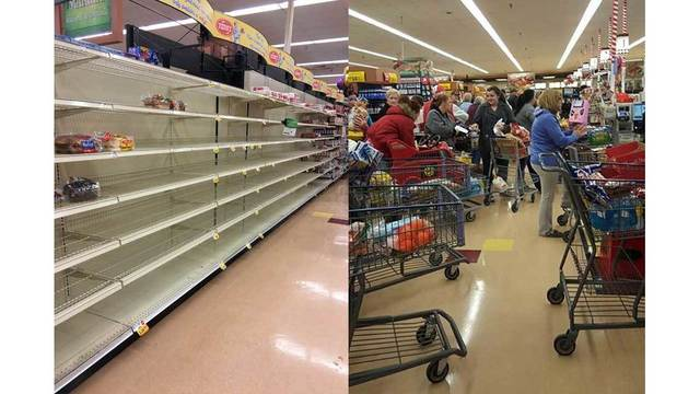 Why do we stock up on milk and bread ahead of a snowstorm?