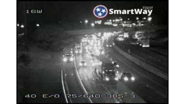Road maintenance leads to traffic tie-ups on I-40 in Knoxville