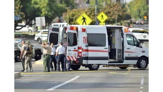 2 officers shot, wounded by visitor at Fresno County jail