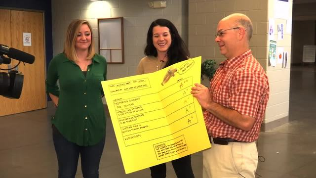 Former students surprise Knox County teacher with thank you report card
