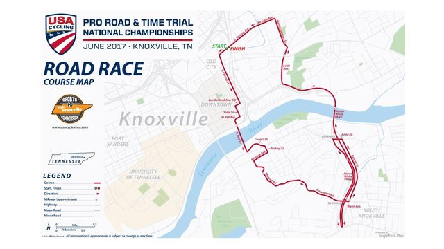 USA Cycling National Championships Course Map and Schedule WATE