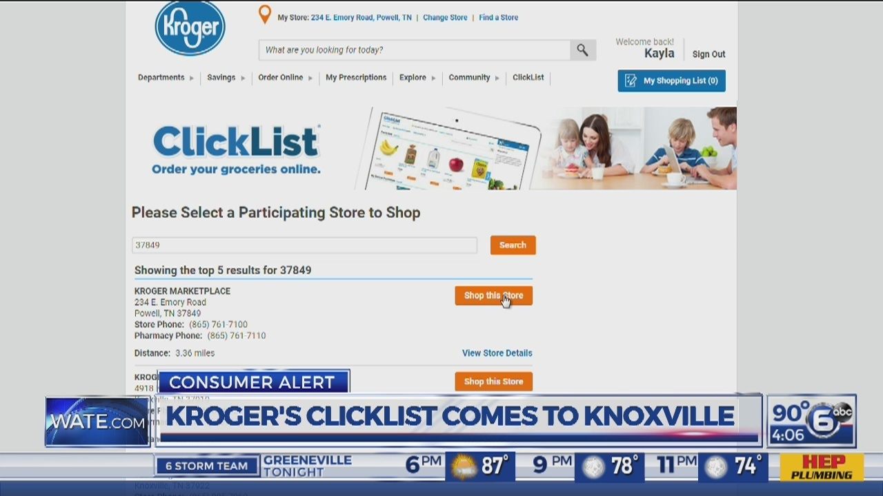 Kroger expanding online ordering service to 30 more Tennessee locations