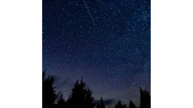 The Annual Id Meteor Shower As Seen Iin Liverpool Uk In 2010