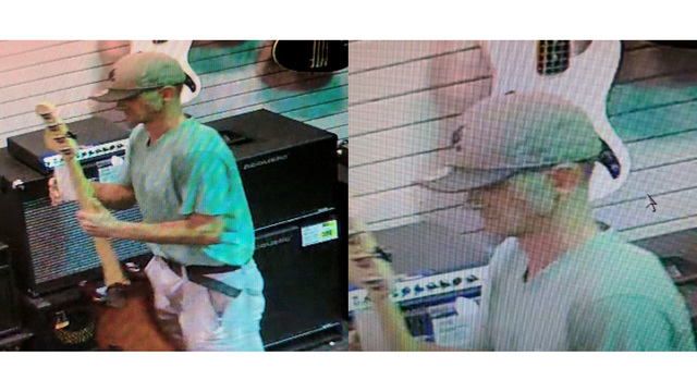 Knoxville police look for suspect in music store theft
