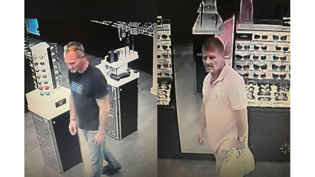 Sevierville police: Men wanted for stealing $1.5K in sunglasses
