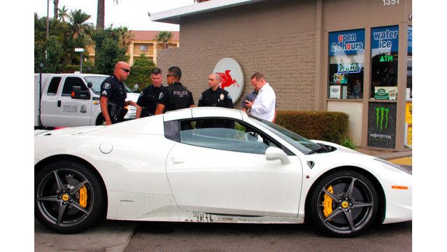Ferrari thief arrested after stopping to ask for gas money