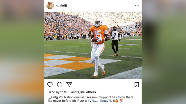 Vols WR Jauan Jennings hints at return to team on Instagram