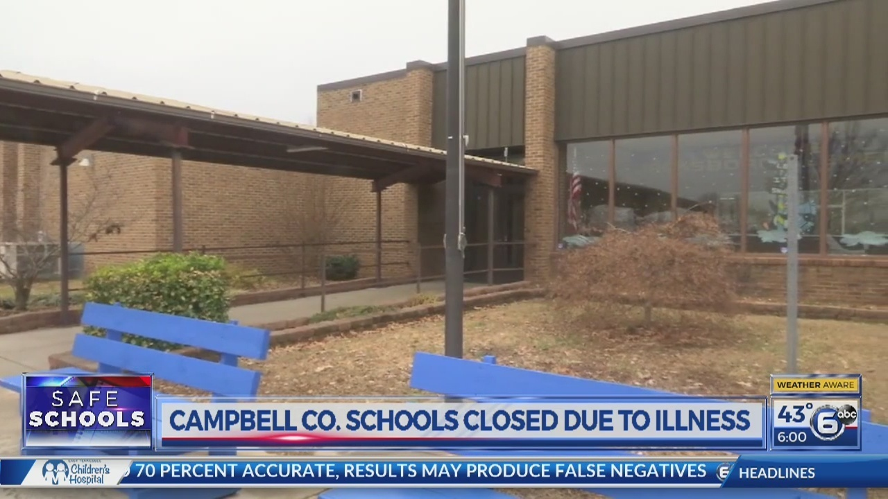 Campbell County schools close due to illness