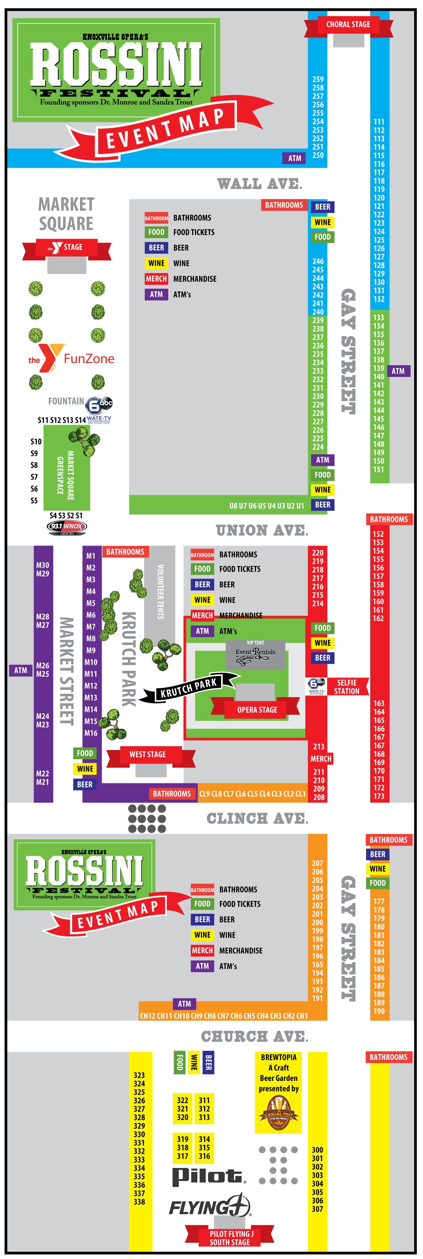 2018 Rossini Festival map