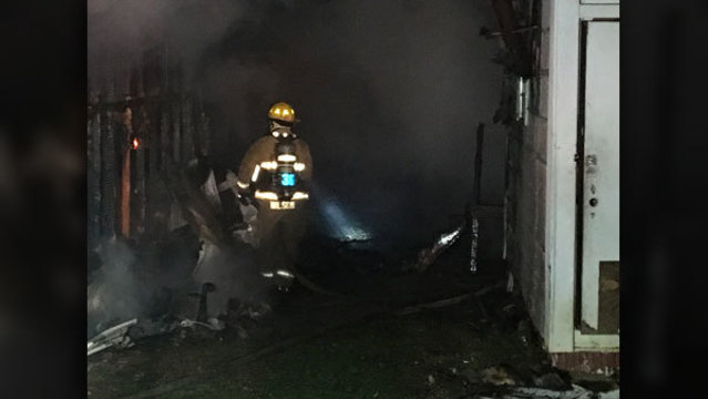 Multiple mobile homes damaged in Anderson County fire