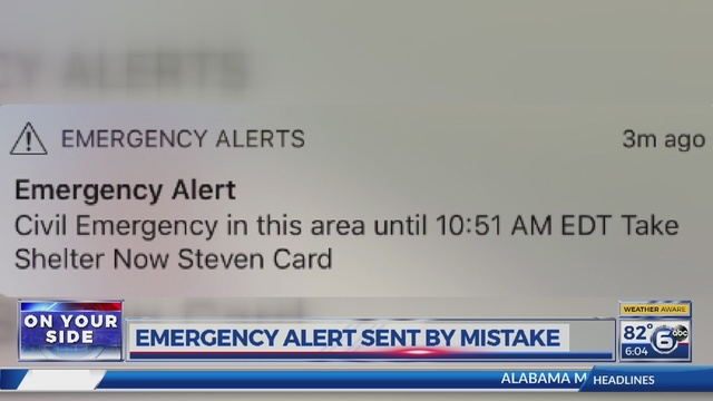 BCSO: Alert sent out to thousands of phones meant to be