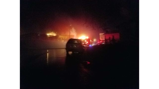 one person injured after fire at chuck s deli