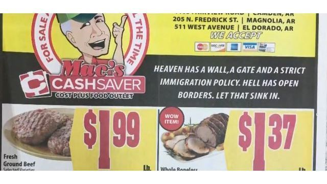 Heaven has a wall: Grocery store ad mailer stirs controversy