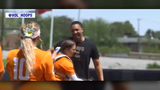Grant Williams throws out first pitch at Lady Vols softball game